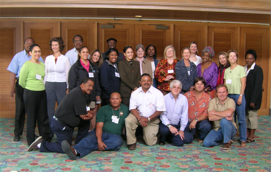 Participants in the workshop to develop a conservation strategy for sea turtles in The Bahamas.