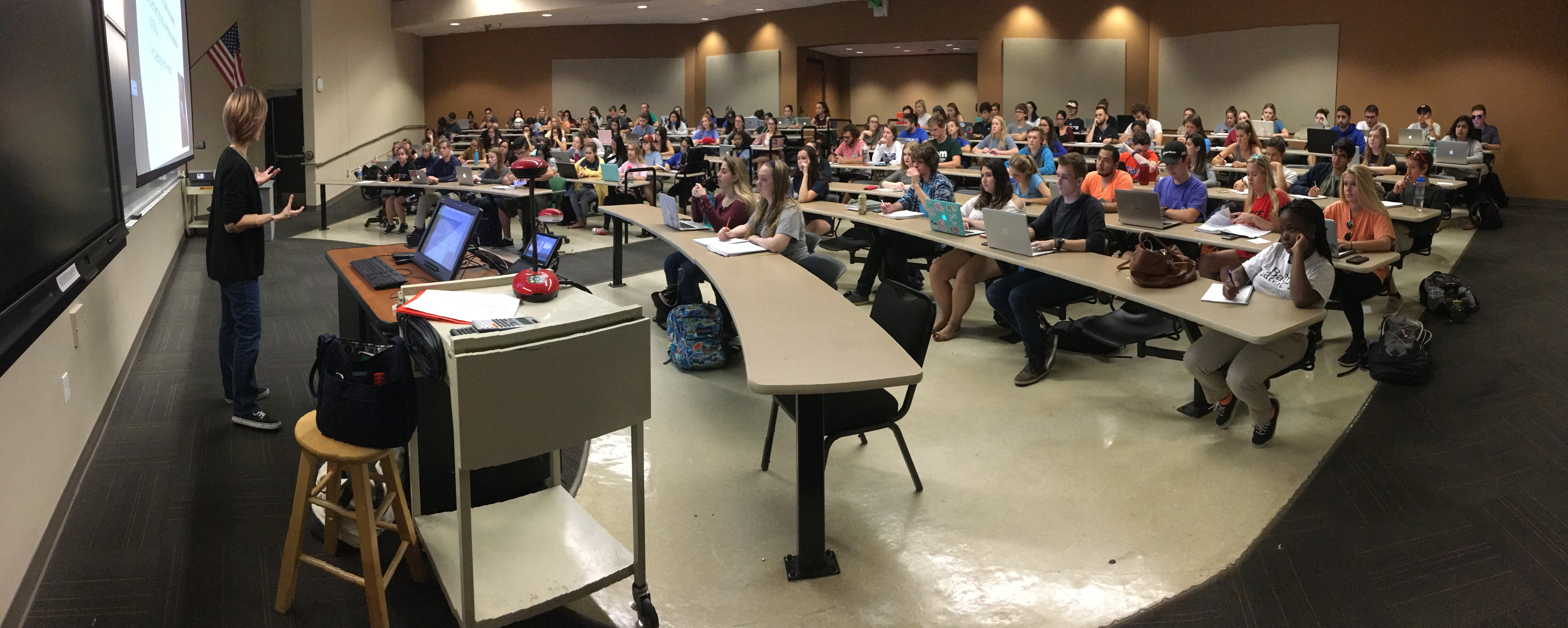 Image of ongoing anthropology lecture