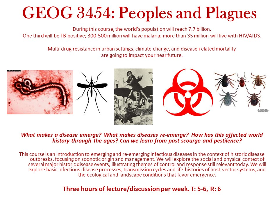 Geog3454 Peoples and Plagues Fall 2019 » UF Geography