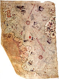 Piri Reis map of America, 1513