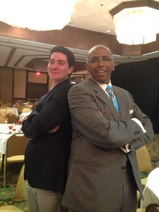 Michael Christ (M.A. 2015) with former RNC Chairman Michael Steele