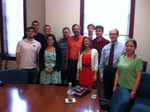 Republican guru Charlie Black with Advanced Strategies students