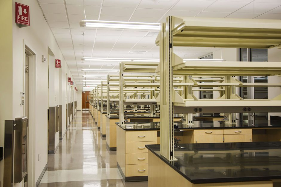 rows of lab desks