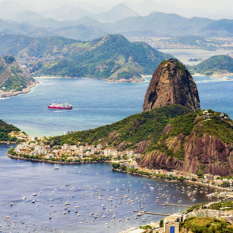 aerial view of Rio, Brazil