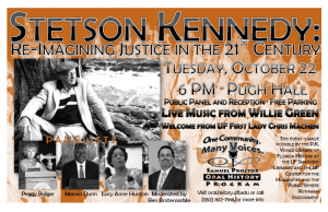 """""""Stetson Kennedy: Re-Imagining Justice in the 21st Century"""" Event Poster"""