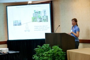 Presenting research results at ACES: 'A Community on Ecosystem Services' Conference